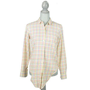NEW Madewell Womens Shirt Sz XS Cream Check